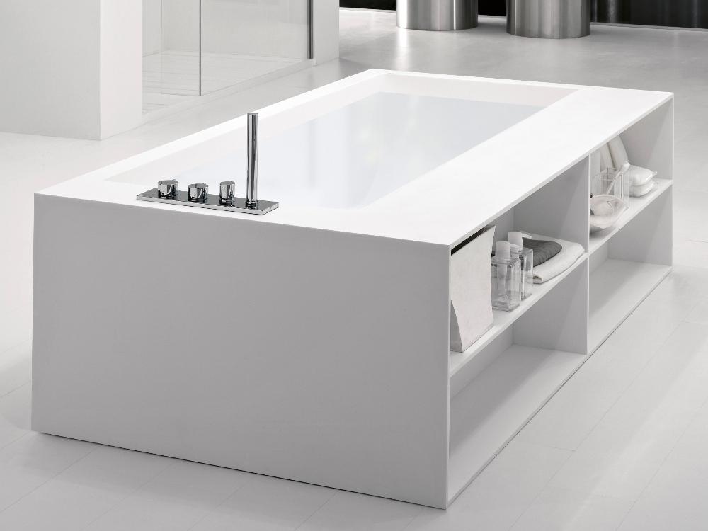 Baignoire design avec rangements en betacryl 2 - Tablier baignoire avec rangement ...